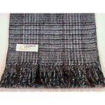 100% Cashmere gray plaid scarf