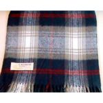 100% Cashmere navy plaid scarf