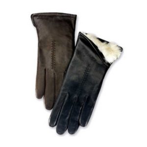 Bunny leather gloves by grandoe