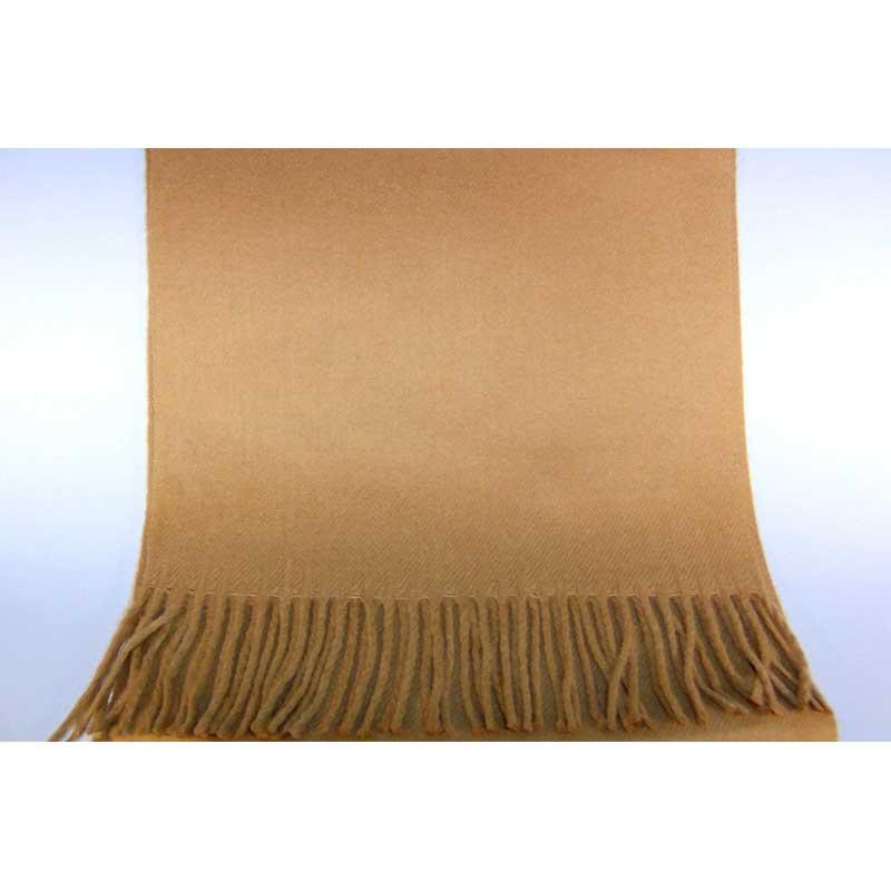 100% Cashmere camel scarf