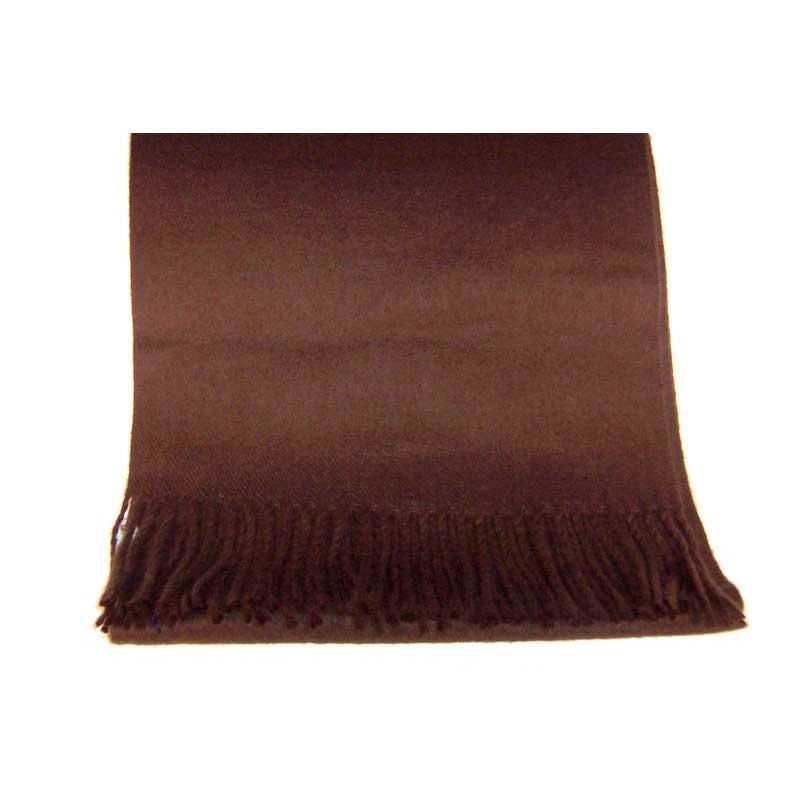 100% Cashmere dark brown scarf