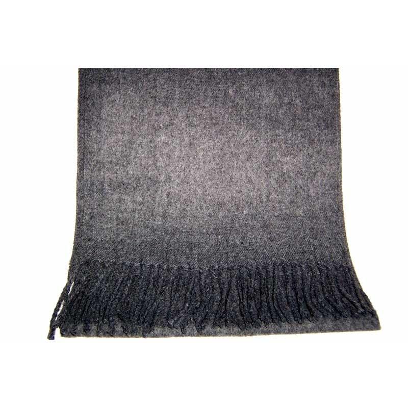 100% Cashmere dark gray scarf