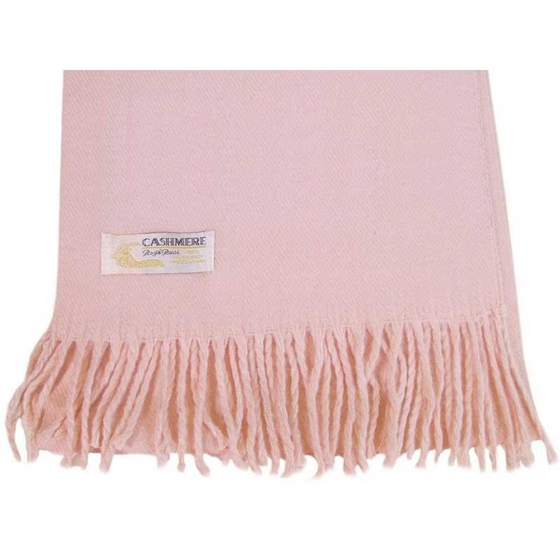 100% Cashmere light pink scarf
