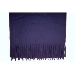 100% Cashmere navy blue scarf