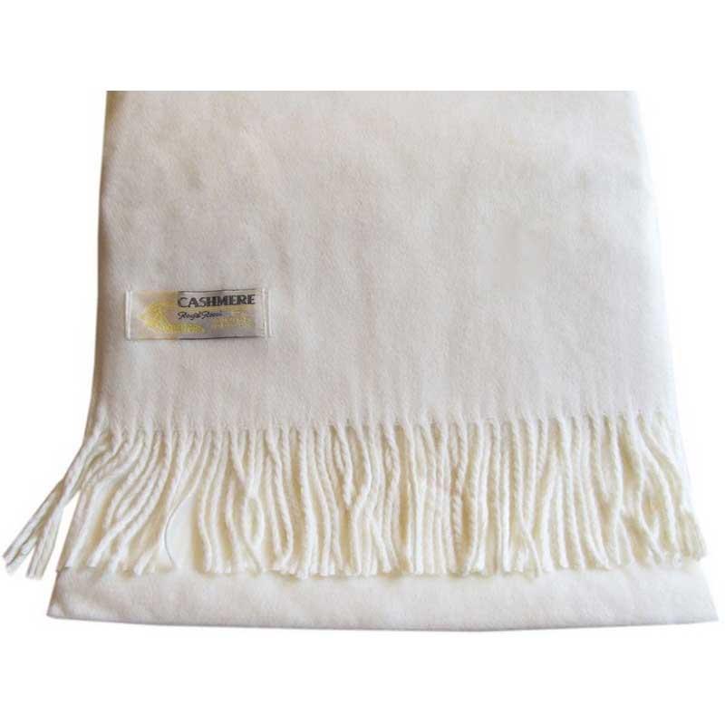 100% Cashmere off white scarf