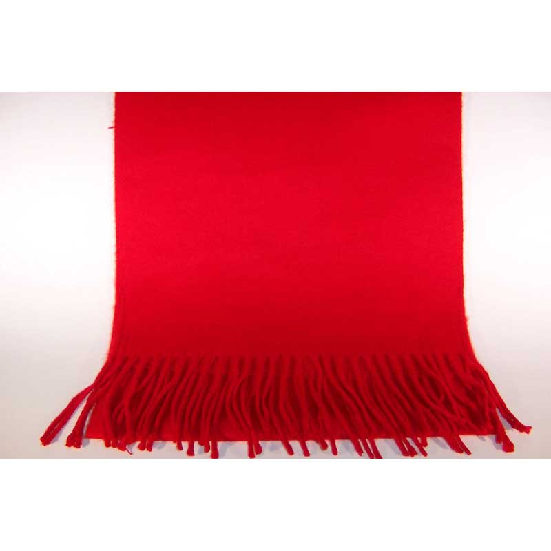 100% Cashmere red scarf