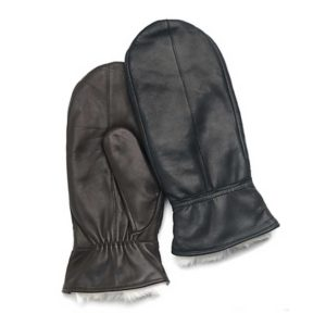 Ladies Bunny 2 Leather Mittens / Gloves